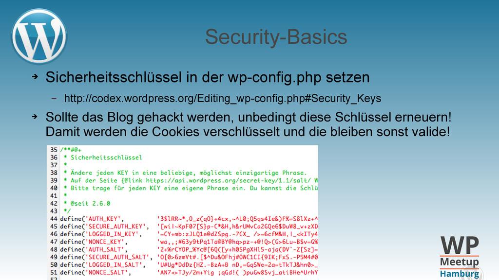 Security-Basics ➔ Sicherheitsschlüssel in der w...