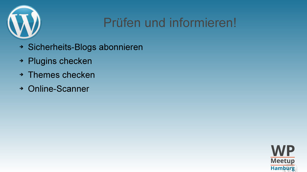Prüfen und informieren! ➔ Sicherheits-Blogs abo...