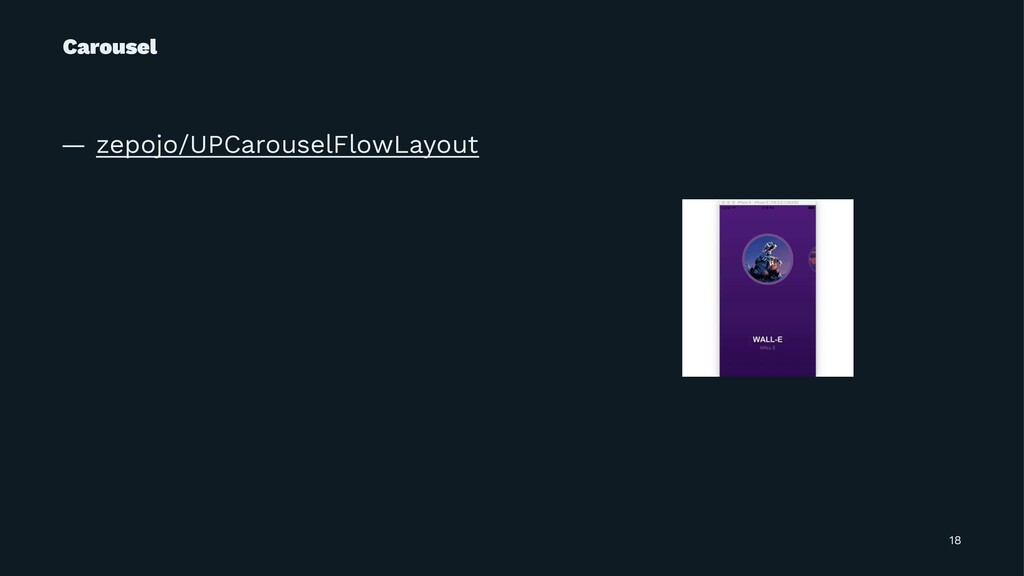 Carousel — zepojo/UPCarouselFlowLayout 18