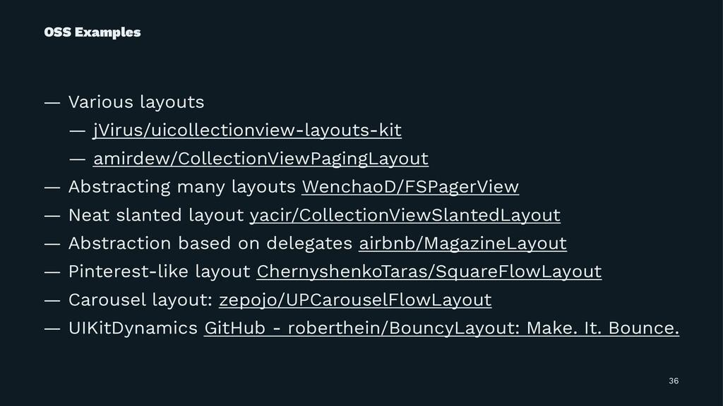 OSS Examples — Various layouts — jVirus/uicolle...