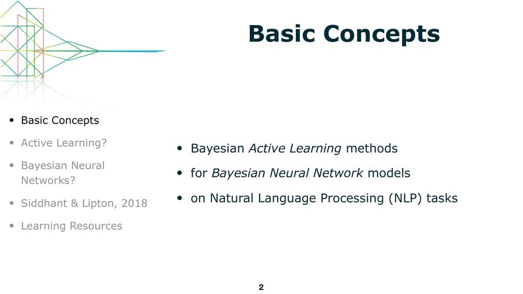 Basic Concepts • Bayesian Active Learning metho...