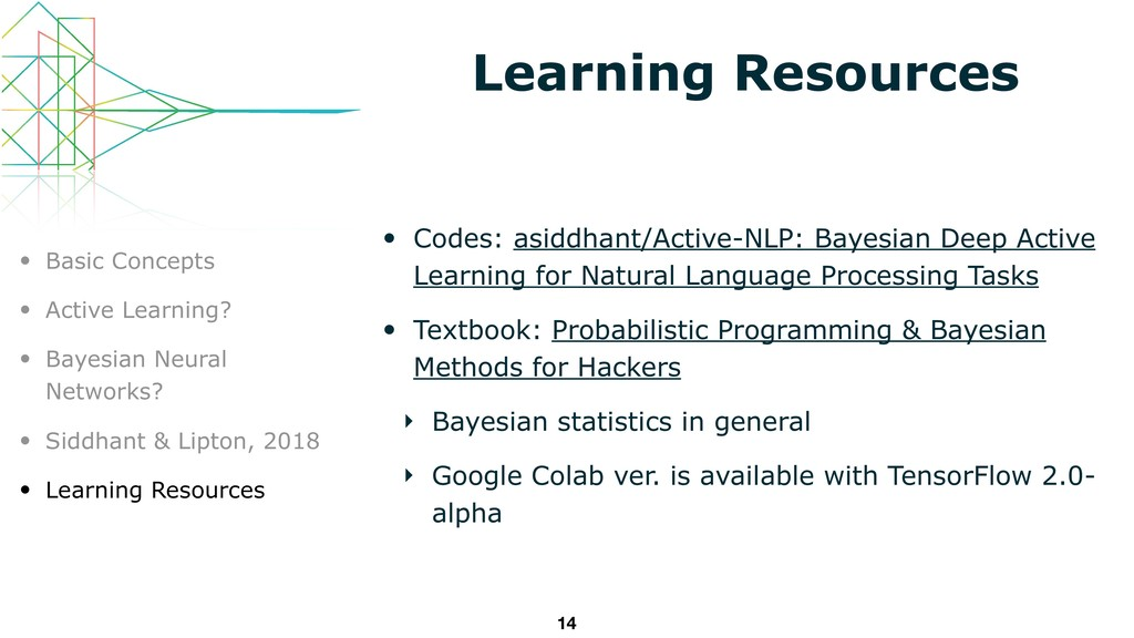 Learning Resources • Codes: asiddhant/Active-NL...