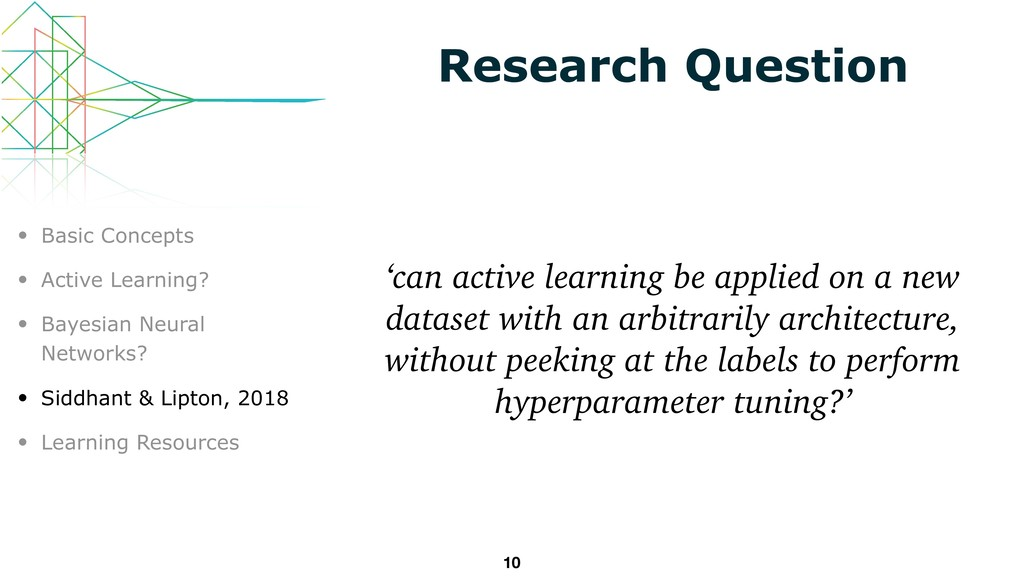 Research Question 'can active learning be appli...