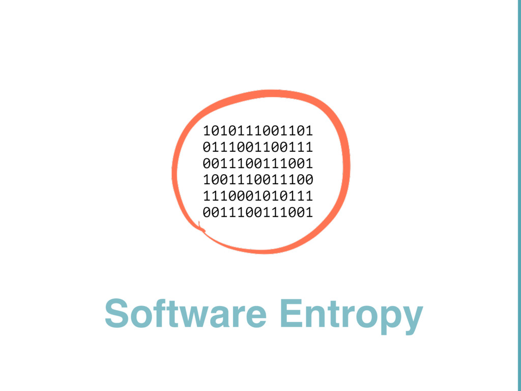 Software Entropy 10101 11001 1010111001101 0111...
