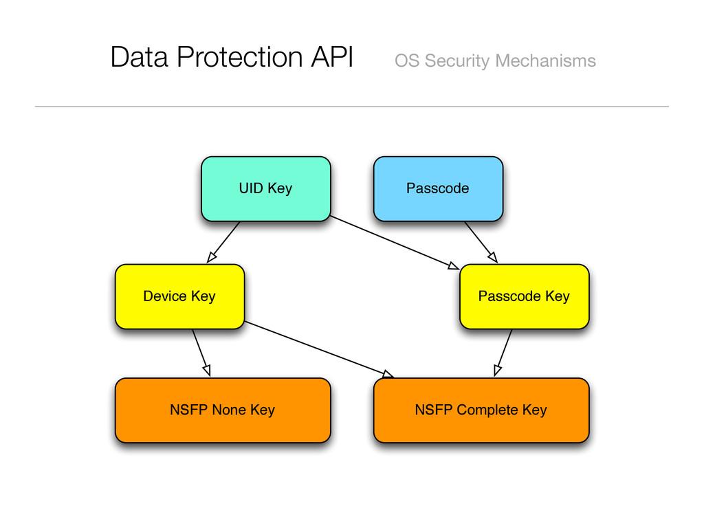 Data Protection API OS Security Mechanisms Pass...