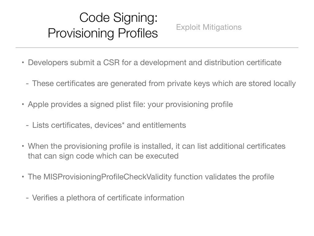 Code Signing: Provisioning Profiles Exploit Miti...