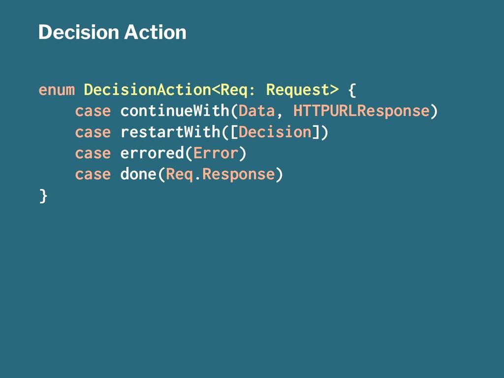 Decision Action enum DecisionAction<Req: Reques...