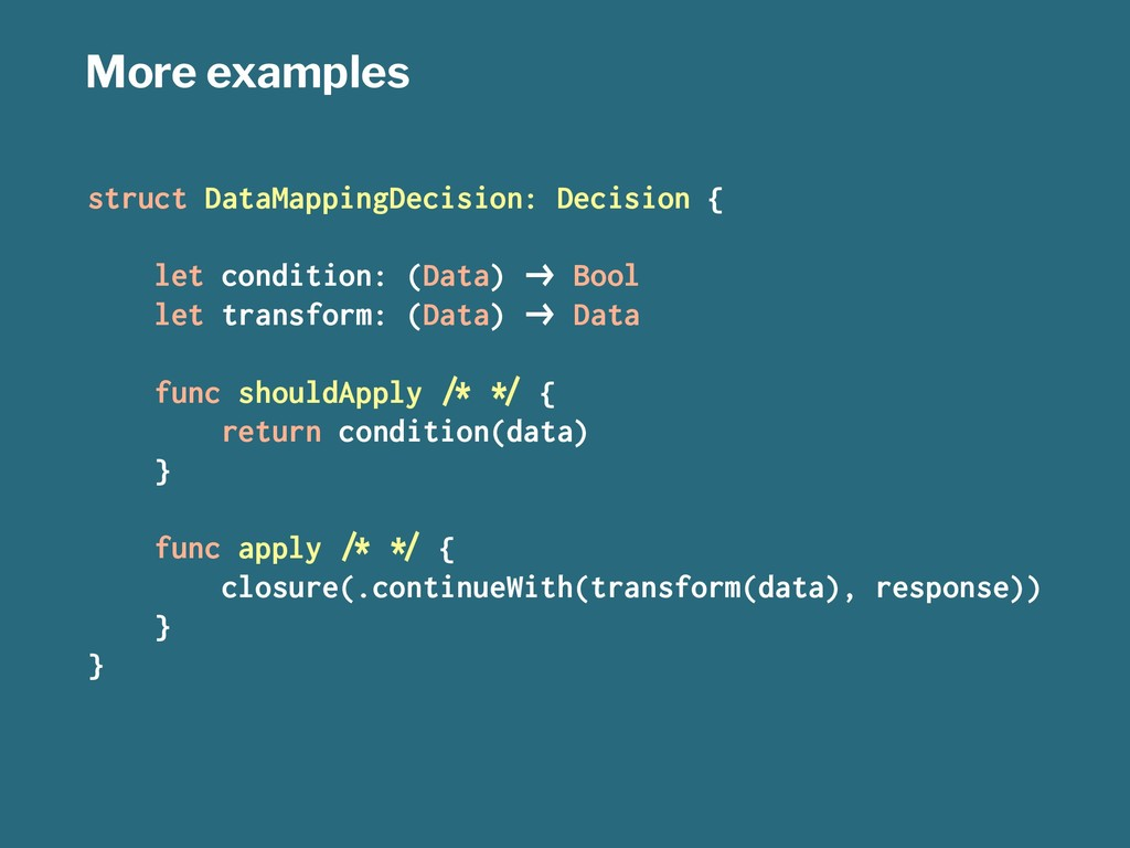 More examples struct DataMappingDecision: Decis...