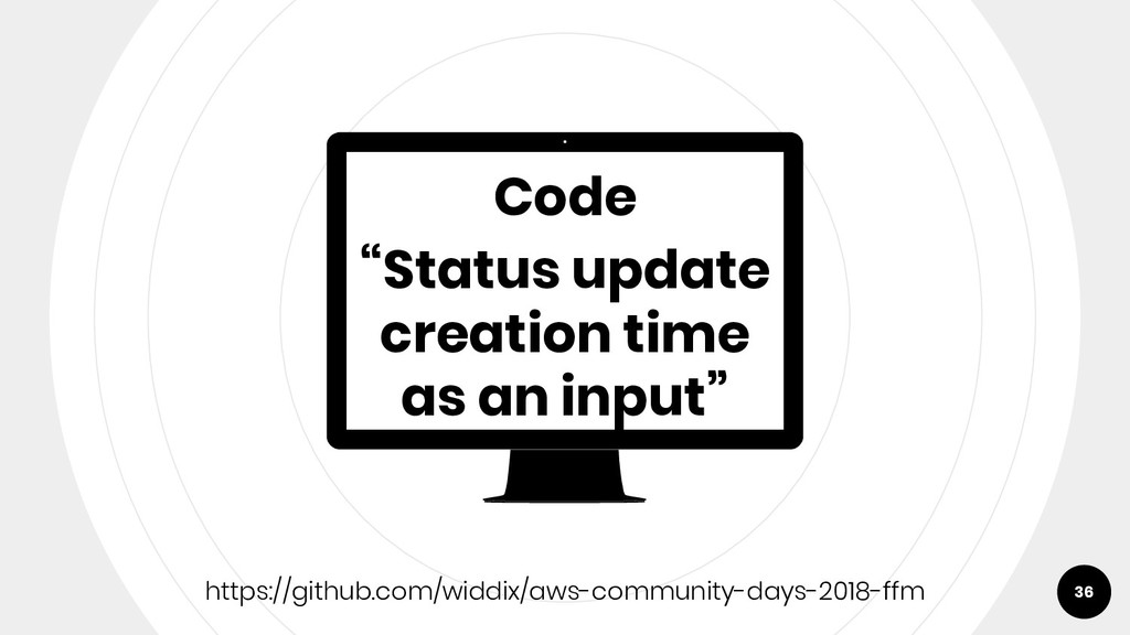 "Code ""Status update creation time as an input"" ..."
