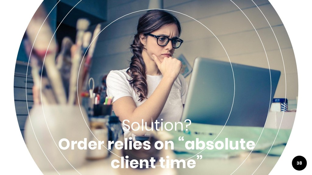 """Solution? Order relies on """"absolute client time..."""