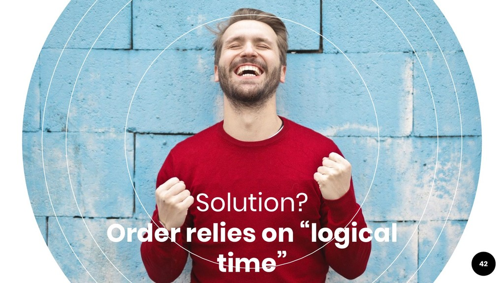 """42 Solution? Order relies on """"logical time"""""""