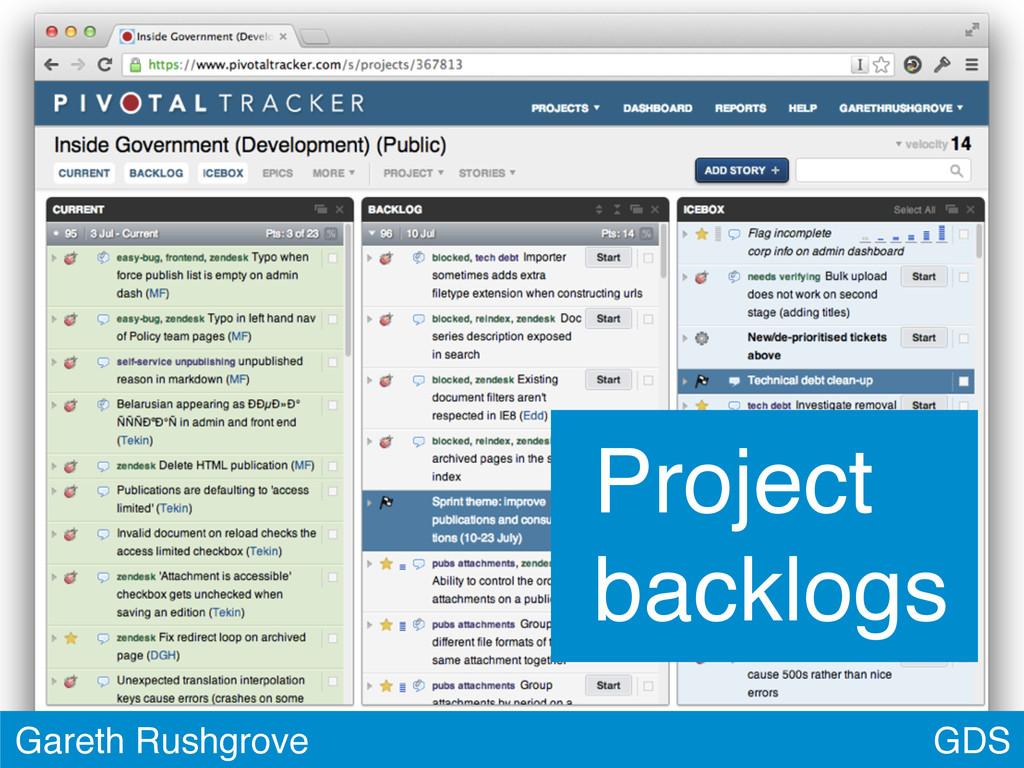 GDS Gareth Rushgrove Project backlogs