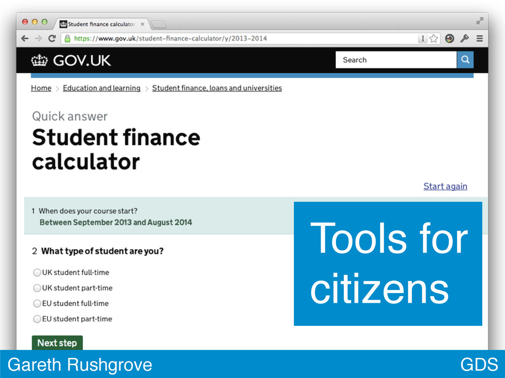 GDS Gareth Rushgrove Tools for citizens