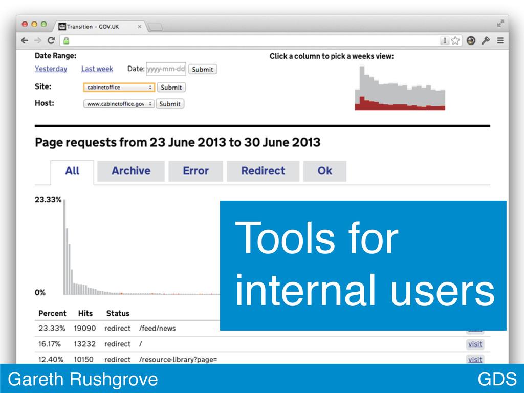 GDS Gareth Rushgrove Tools for internal users