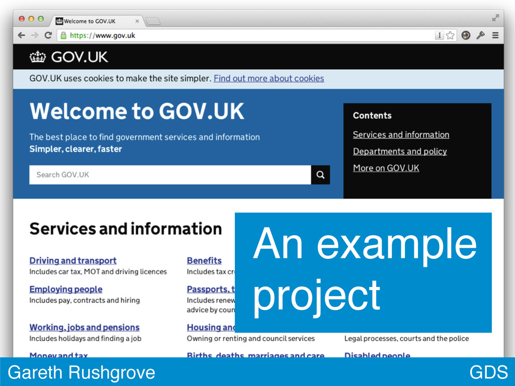 GDS Gareth Rushgrove An example project
