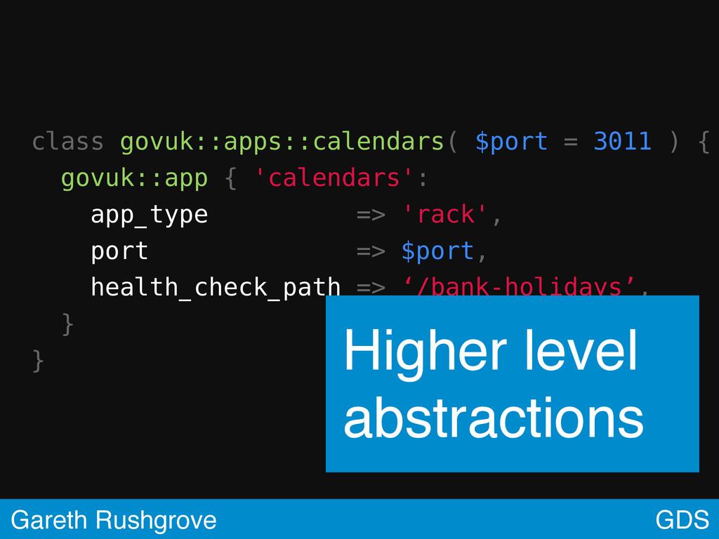 class govuk::apps::calendars( $port = 3011 ) { ...