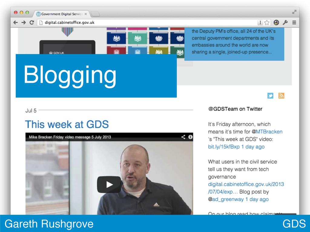 GDS Gareth Rushgrove Blogging
