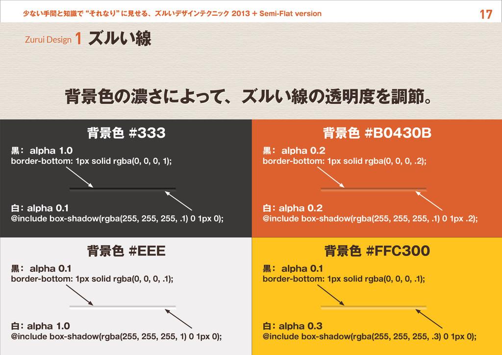 """17 少ない手間と知識で""""それなり"""" に見せる、ズルいデザインテクニック 2013 + Sem..."""
