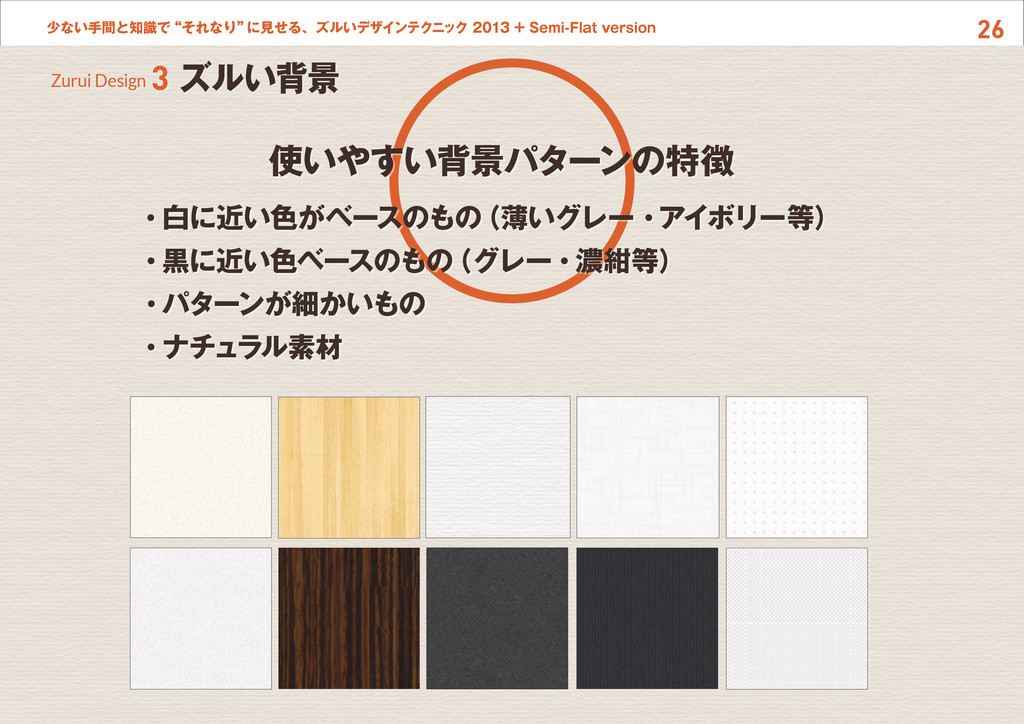 """26 少ない手間と知識で""""それなり"""" に見せる、ズルいデザインテクニック 2013 + Sem..."""