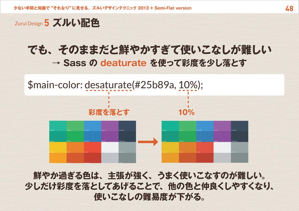 """48 少ない手間と知識で""""それなり"""" に見せる、ズルいデザインテクニック 2013 + Sem..."""