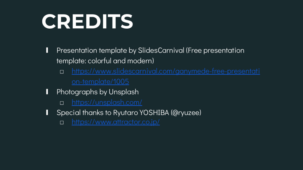 CREDITS ∎ Presentation template by SlidesCarniv...