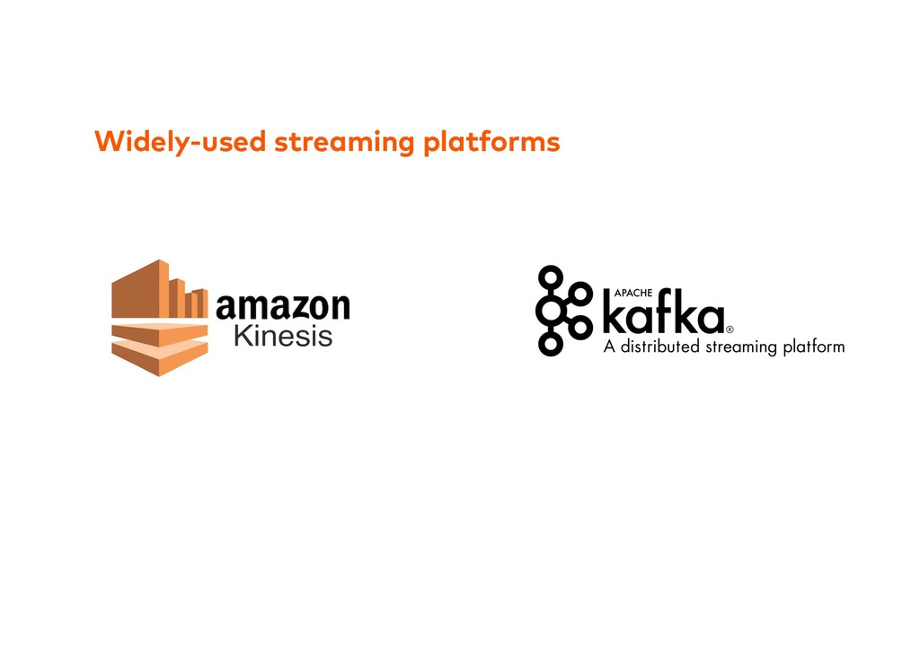 Widely-used streaming platforms