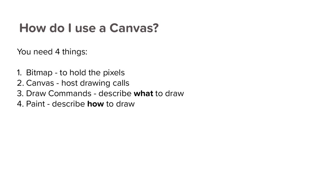 How do I use a Canvas? You need 4 things: 1. Bi...