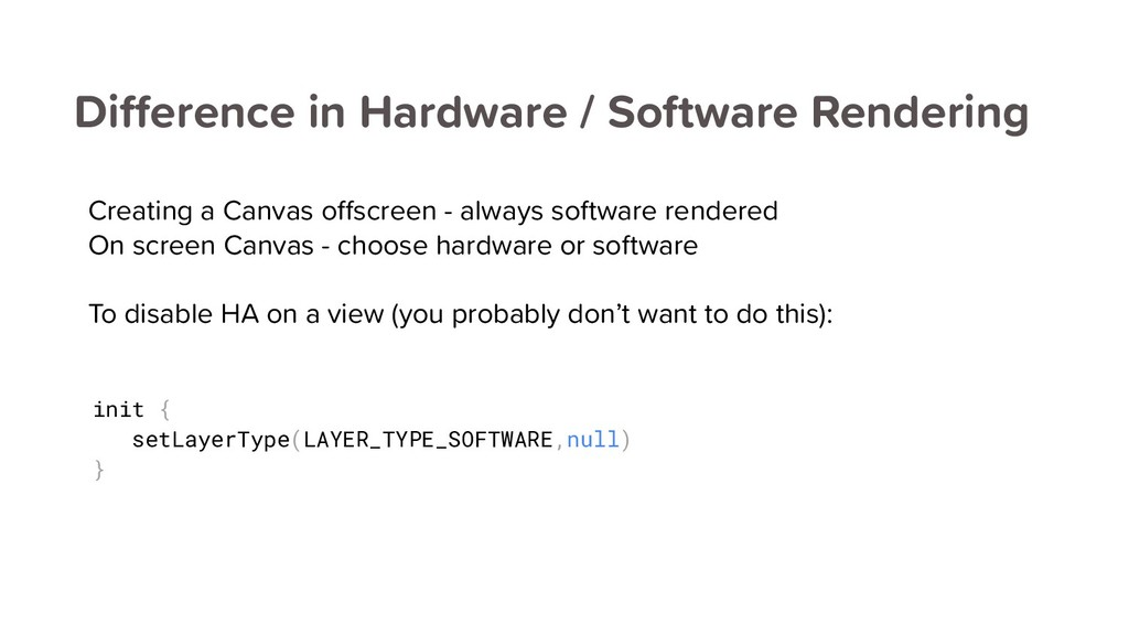 Difference in Hardware / Software Rendering Cre...