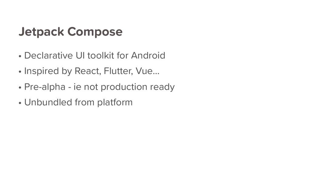 Jetpack Compose • Declarative UI toolkit for An...