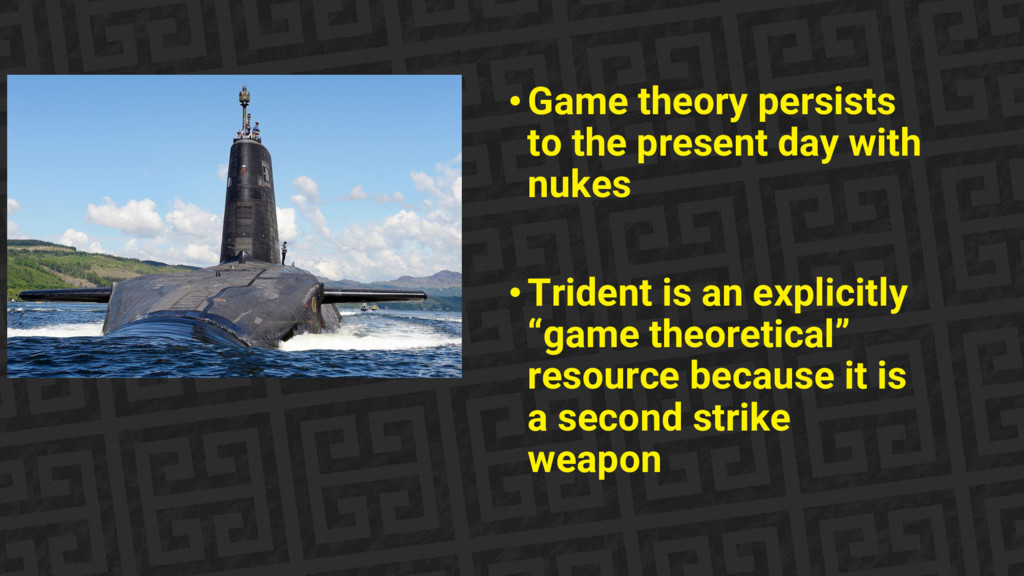 •Game theory persists to the present day with n...