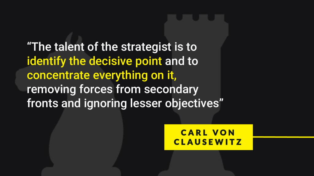 """""""The talent of the strategist is to identify th..."""