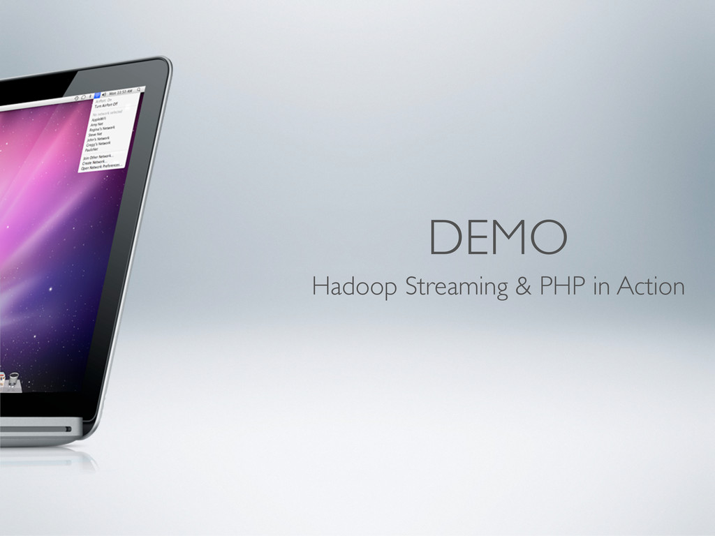 DEMO Hadoop Streaming & PHP in Action