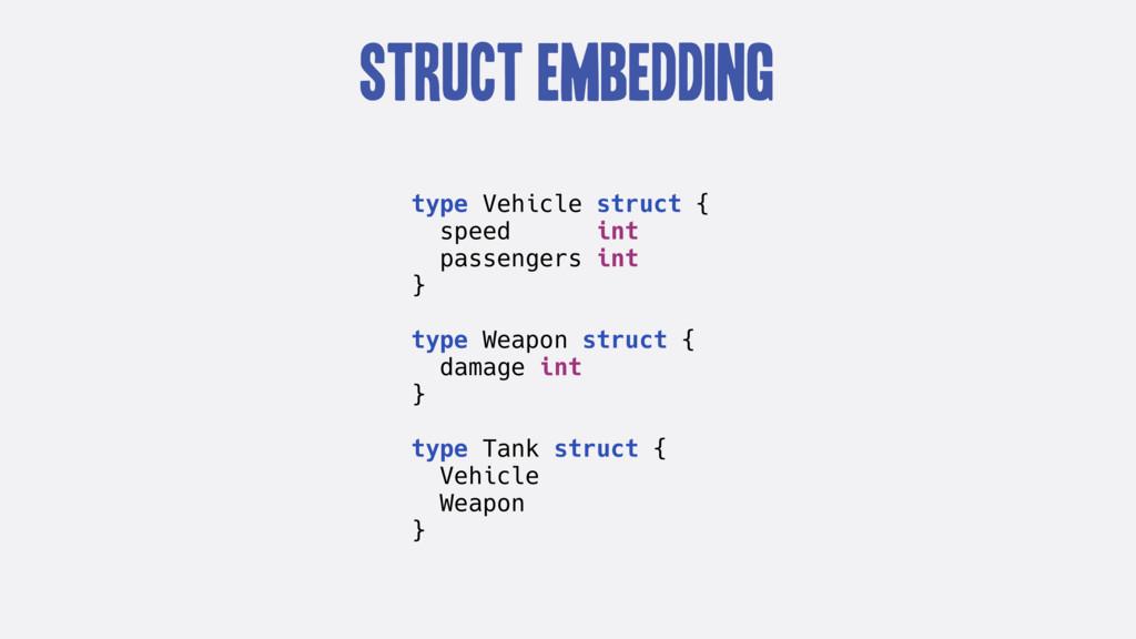 Struct Embedding type Vehicle struct { speed in...