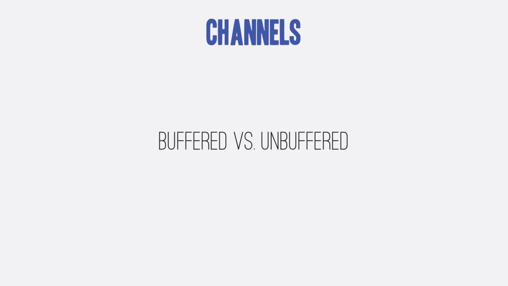 Channels Buffered vs. Unbuffered
