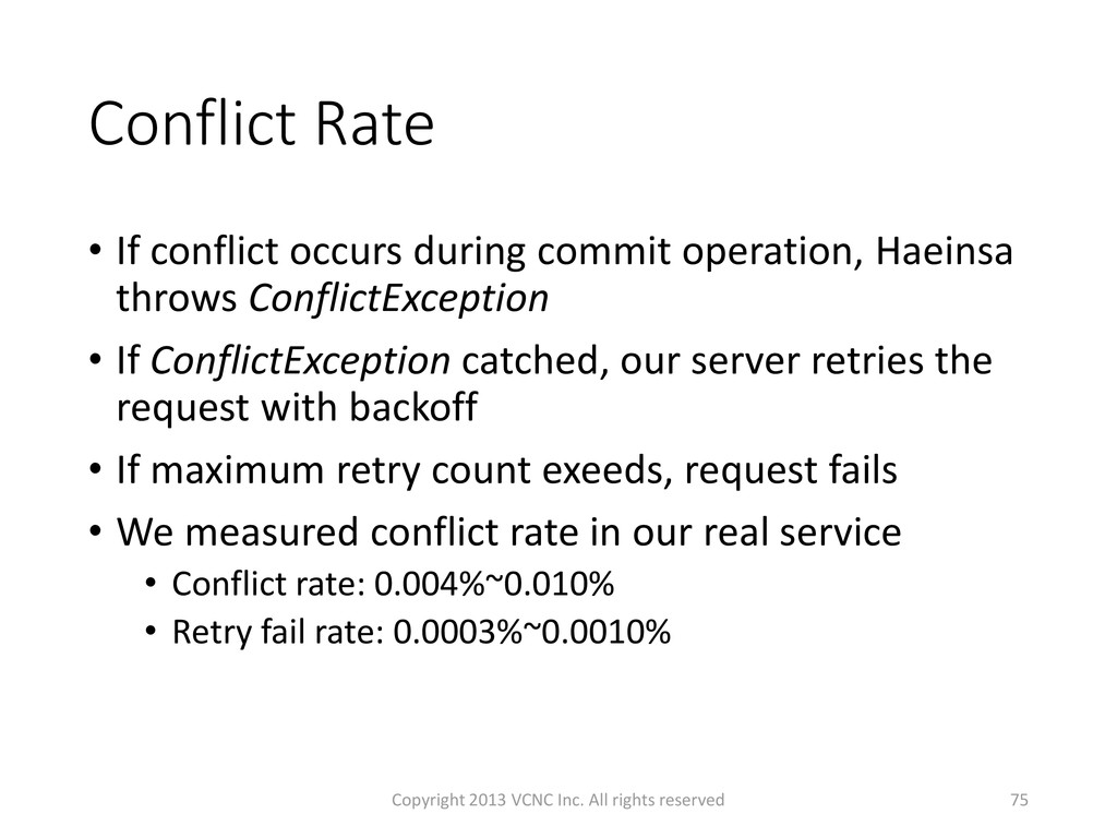Conflict Rate • If conflict occurs during commi...