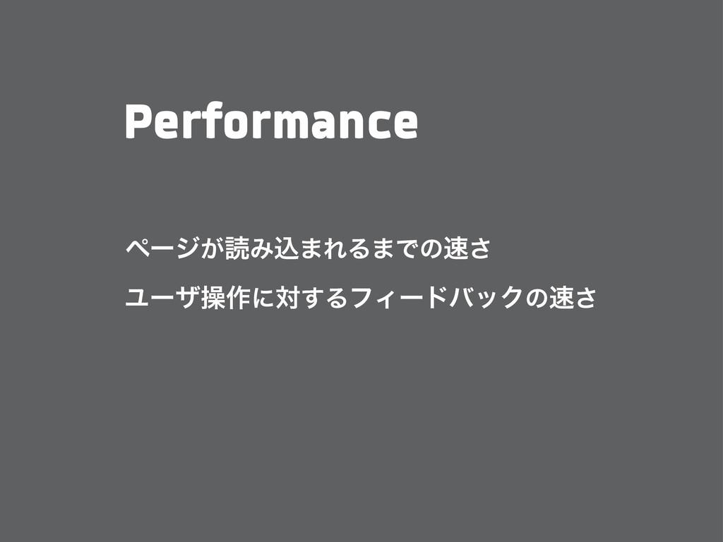 Performance ϖʔδ͕ಡΈࠐ·ΕΔ·Ͱͷ͞ Ϣʔβૢ࡞ʹର͢ΔϑΟʔυόοΫͷ͞