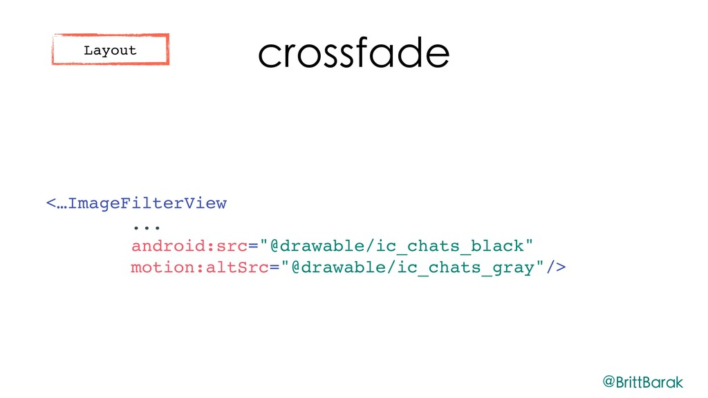 """crossfade <…ImageFilterView ... android:src=""""@d..."""