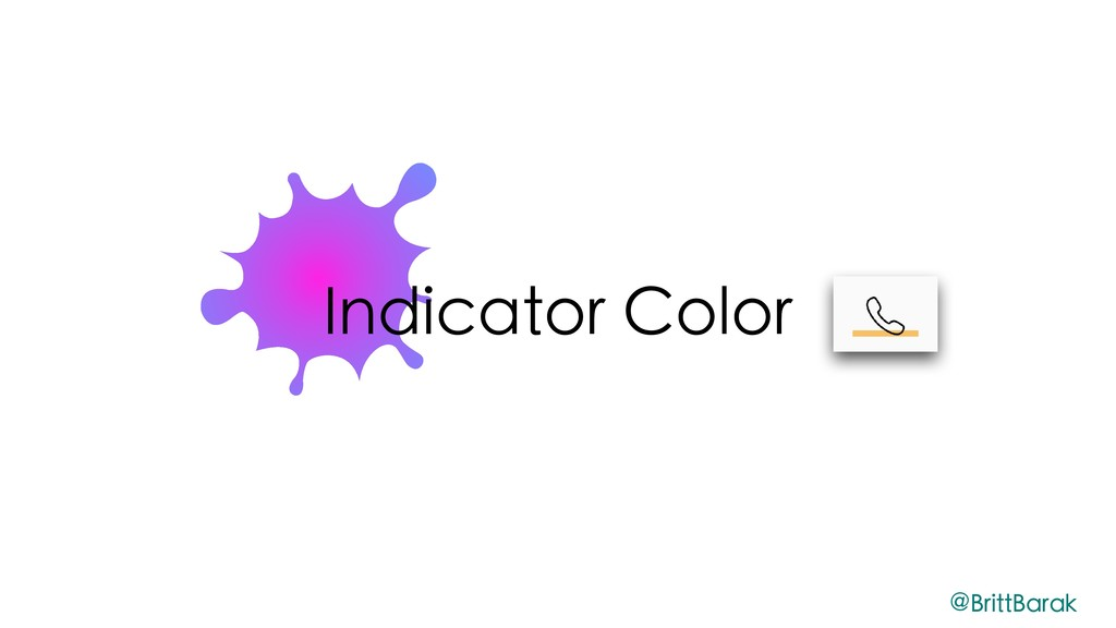 Indicator Color @BrittBarak
