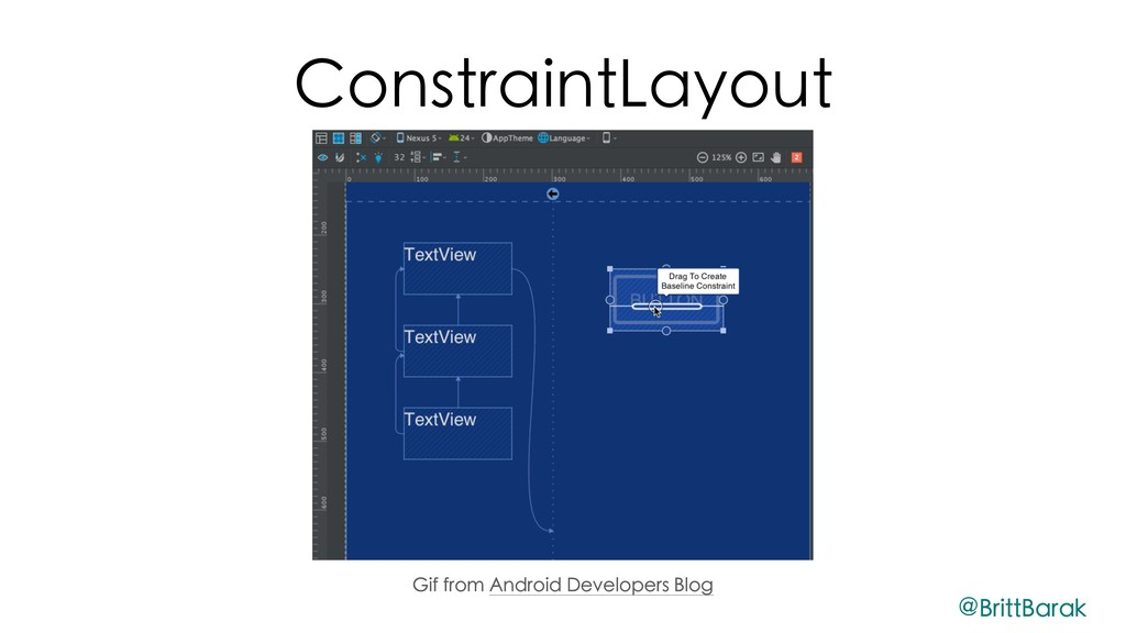ConstraintLayout Gif from Android Developers Bl...