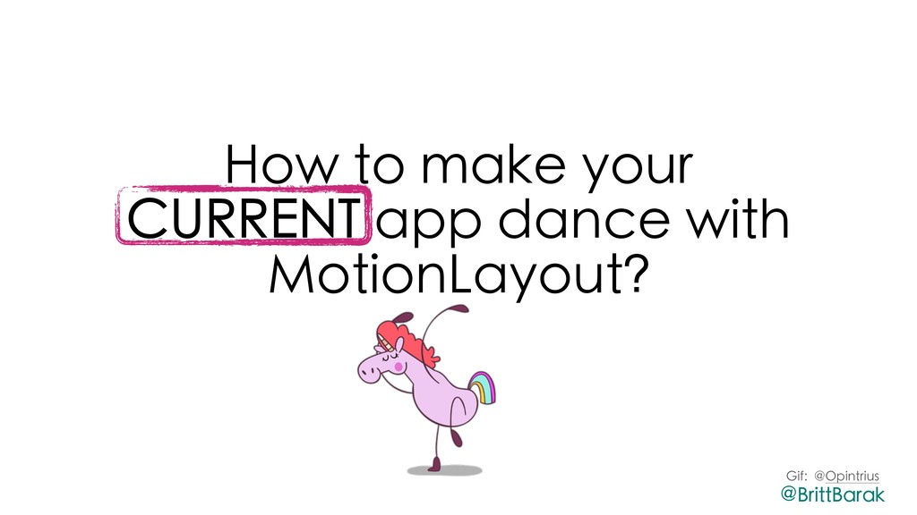 How to make your CURRENT app dance with MotionL...