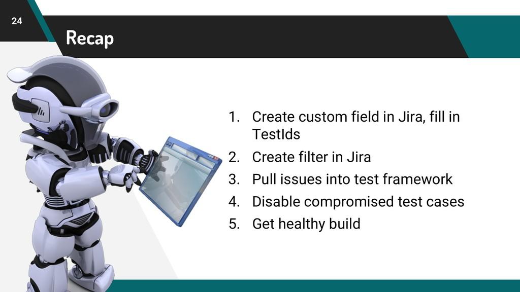 Recap 24 1. Create custom field in Jira, fill i...