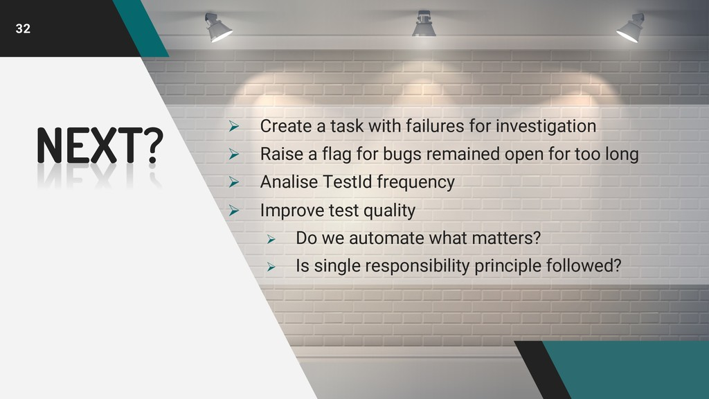 32 Ø Create a task with failures for investigat...