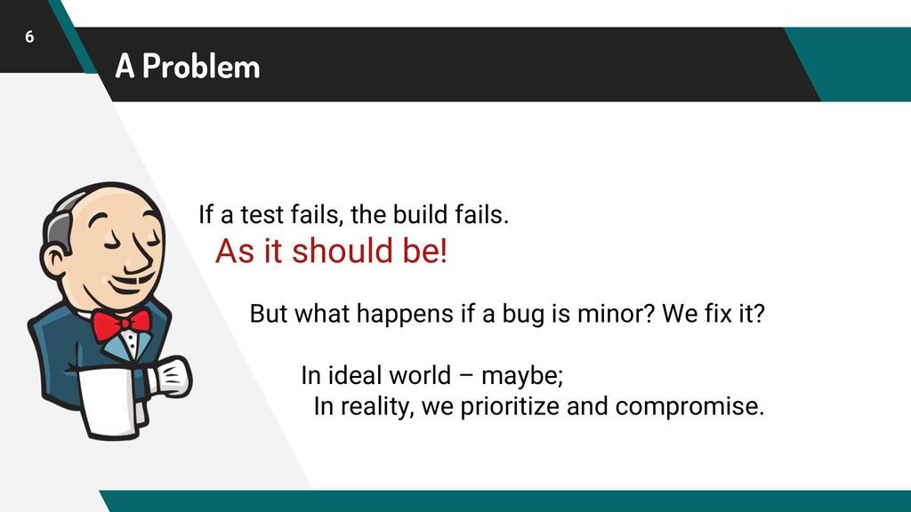 A Problem 6 If a test fails, the build fails. A...
