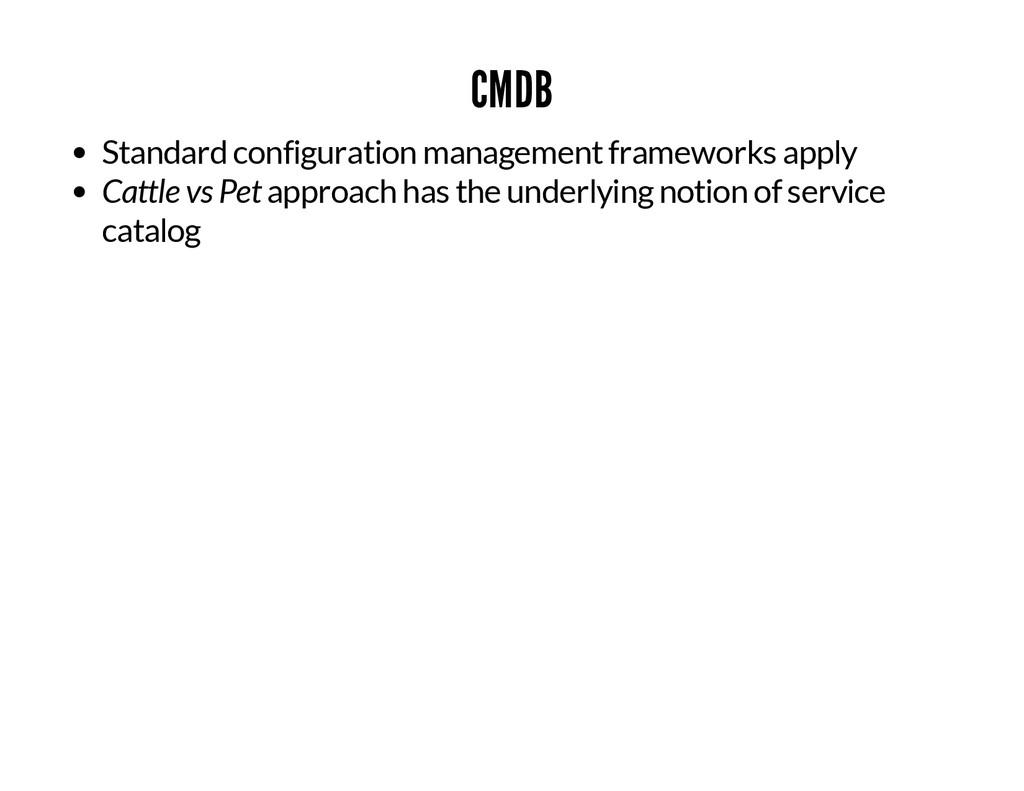 CMDB Standard configuration management framewor...