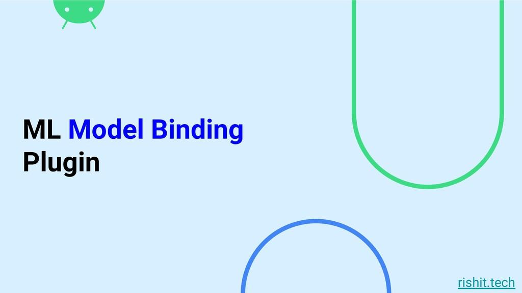 rishit.tech ML Model Binding Plugin