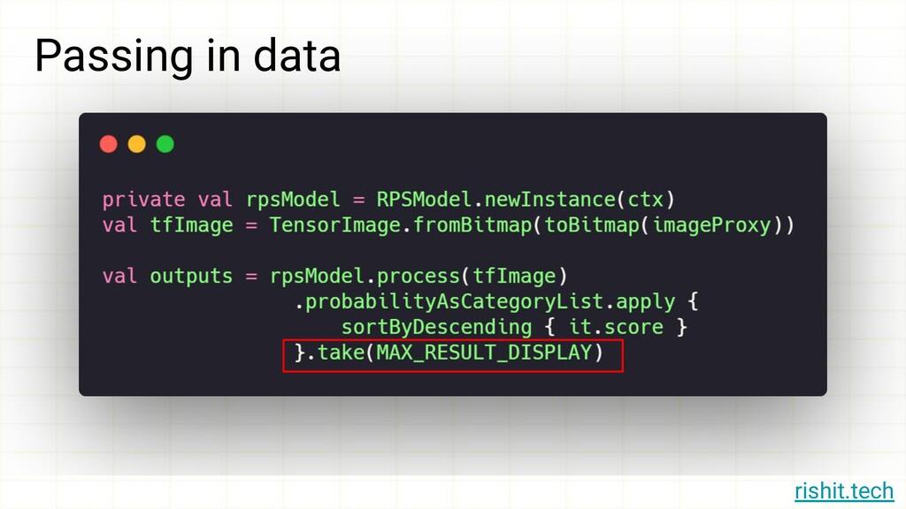 rishit.tech Passing in data