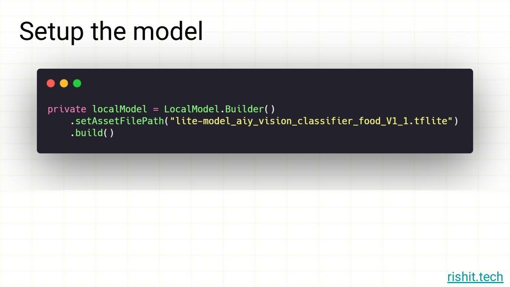 rishit.tech Setup the model