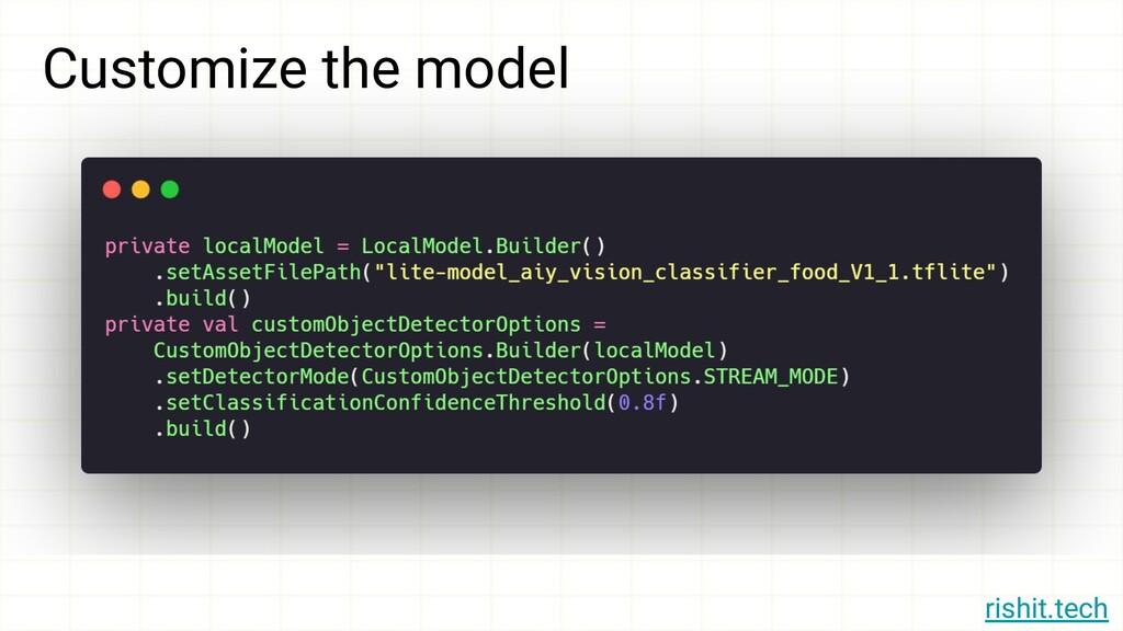 rishit.tech Customize the model