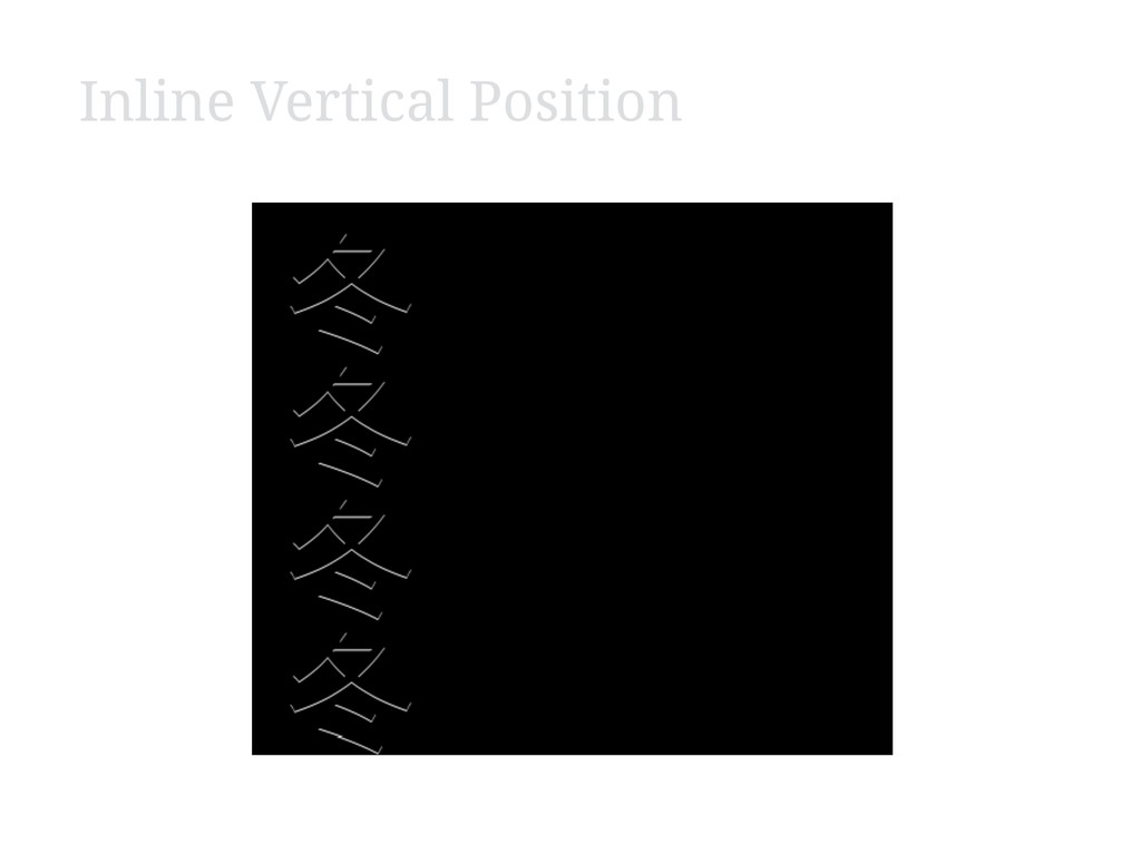 Inline Vertical Position