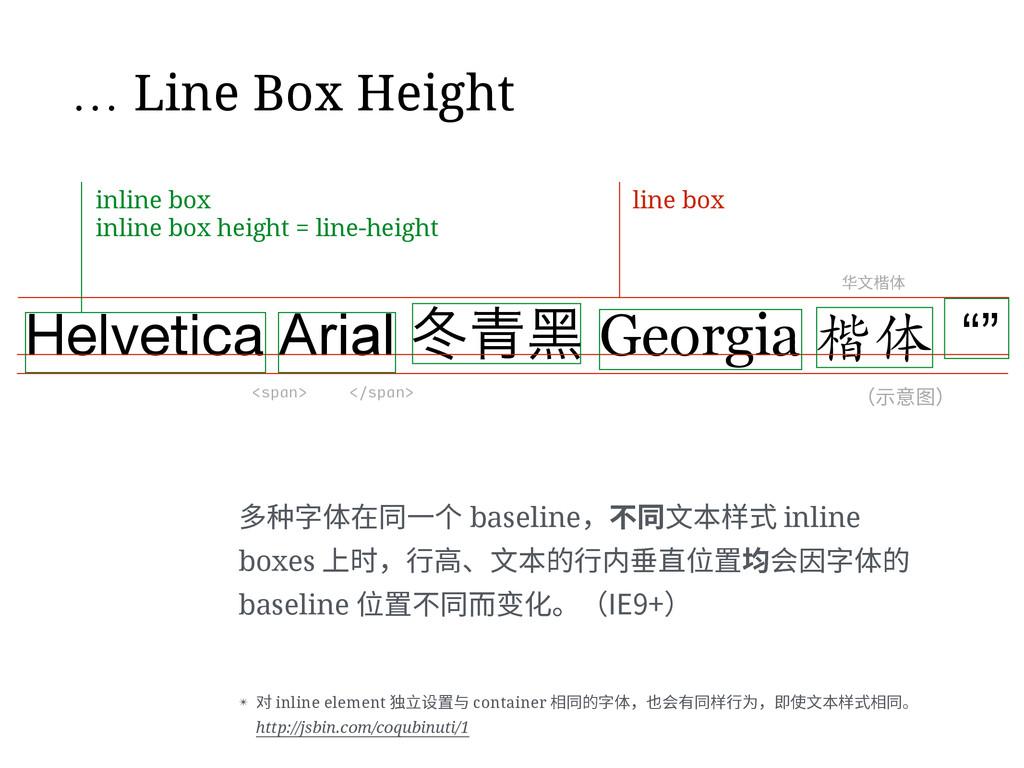 … Line Box Height Helvetica Arial ޑ Georgia 楷...